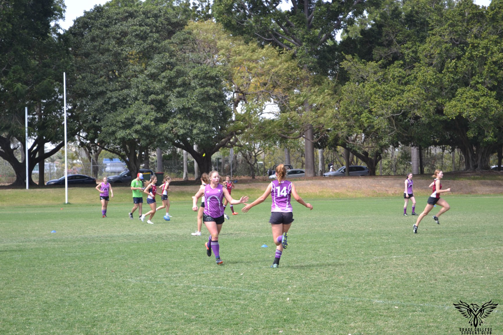 Residents playing AFL