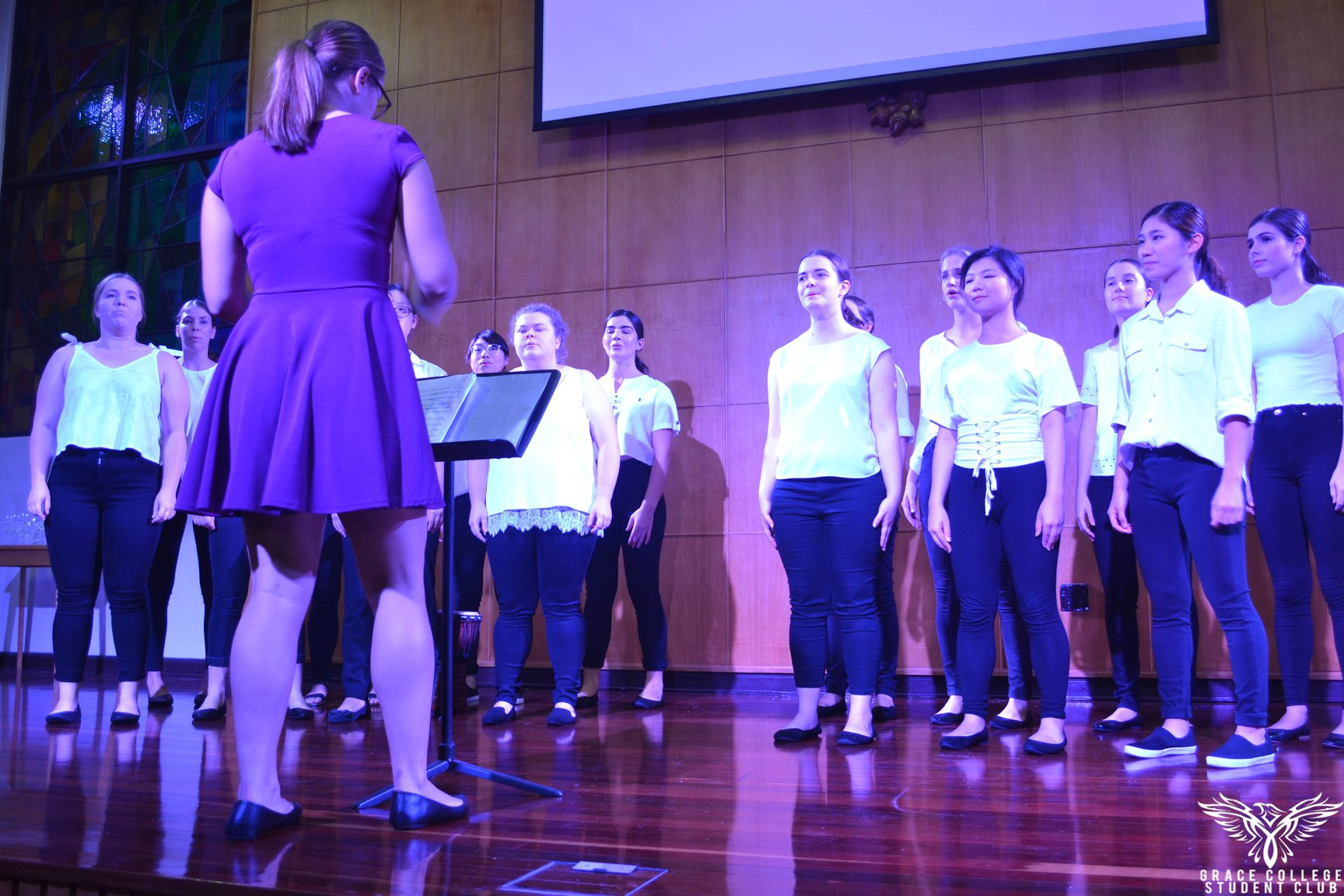 The Grace College choir performs