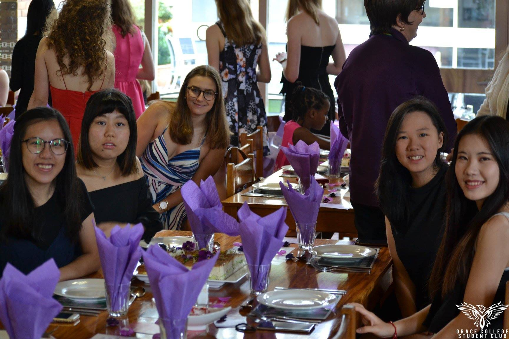 Residents seated for Purple Brunch