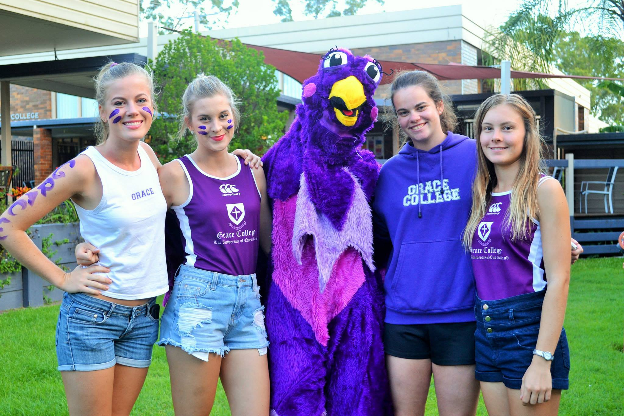 Grace College supporters with mascot