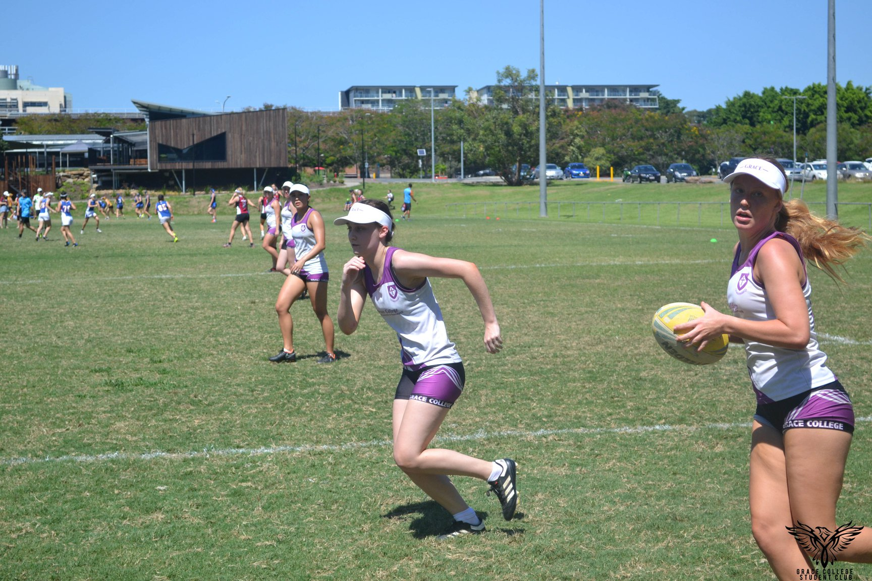 Playing touch football