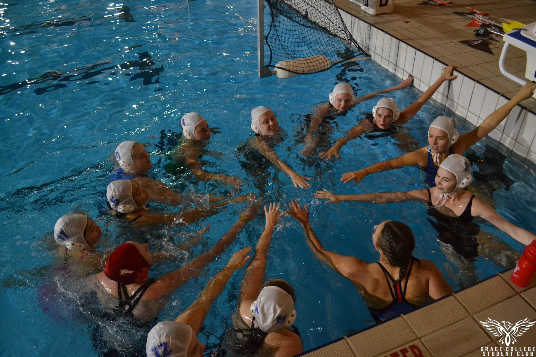 Water polo team in the water