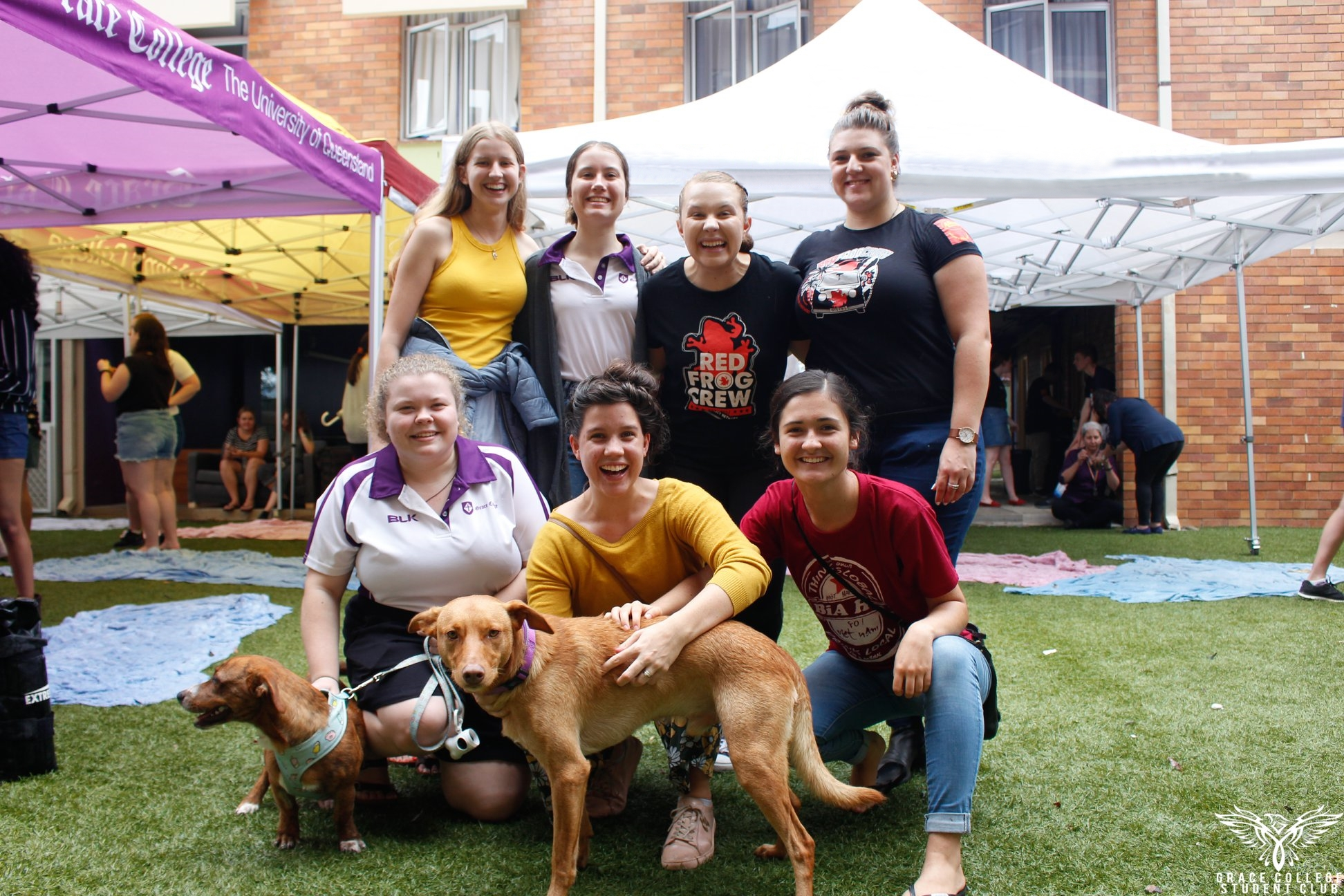 Care Convenors and Red Frogs at Puppies and Pancakes