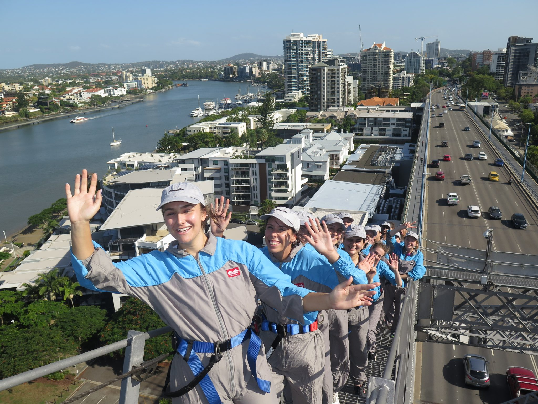 Student leaders on the Storey Bridge Climb